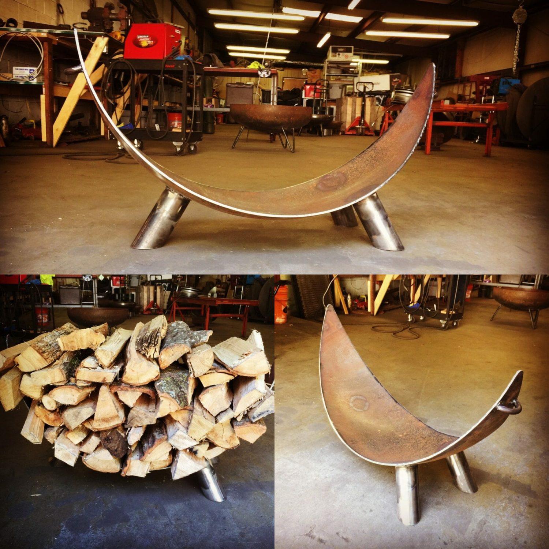 Tripod Leg Firewood Rack