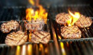 Cooking Burgers On Fire Pits For An S&S Event