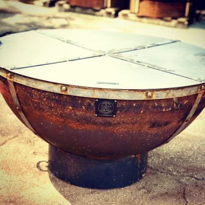 37 inch steel fire pit snuffer lid for extinguishing fire.